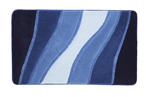 Meusch Alfombra de baño azul océano 60 x 100 cm
