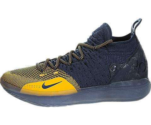 Nike Zoom KD11 Mens Shoes, College Navy / University Gold, 10