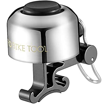 PRO BIKE TOOL Bicycle Bell for Handlebars – Crisp Clear & Long Sound Ringer for Adults or Kids Bikes - Road Mountain or Beach Cruiser Bikes