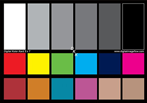 DGK Color Tools DKK 5' x 7' Set of 2 White Balance and Color Calibration Charts with 12% and 18% Gray - Includes Frame Stand and User Guide
