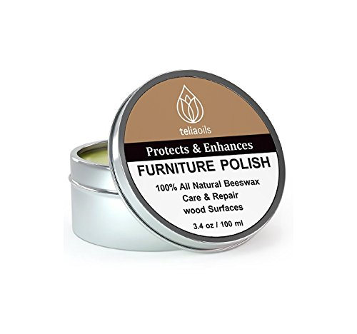 Beeswax Furniture Polish, 100% natural, for any kind of wood, nourishing, renewing, sealing, covering scratches, protecting from drying out, restoring wood's natural beauty. The best wood wax cream.