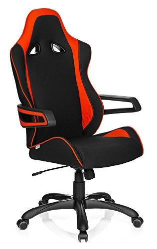 *hjh OFFICE 621841 Gaming Stuhl RAYCER PRO II Stoff Schwarz/Rot Racing Chefsessel mit Armlehnen*