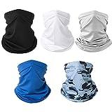 Fashion Face Dust Mask (5 PCS) Bandanas Sports & Casual Headwear Seamless Neck Gaiter, Headwrap, Balaclava, Helmet Liner