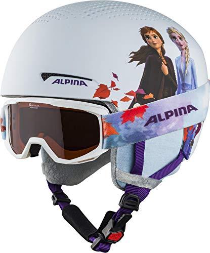 ALPINA Unisex - Kinder, ZUPO DISNEY SET Skihelm, Frozen II, 51-55 cm