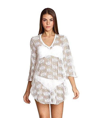 Elif For Jordan Taylor Soleil 3/4 Sleeve Tunic-White-M