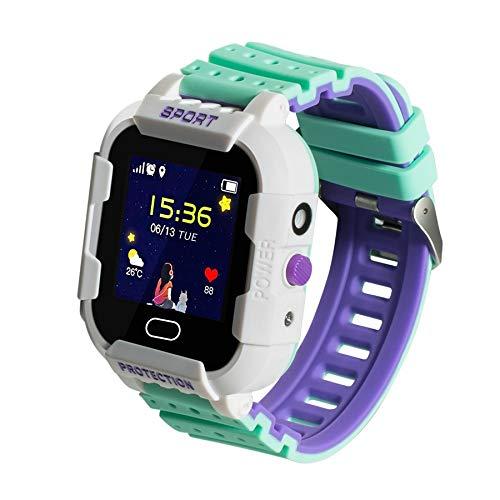DCU TECNOLOGIC | Reloj Inteligente niños | Smarwatch para niños | Llamadas 2G | Tecnología GPRS+LBS+WiFi | A Prueba de Golpes | IP67 | Verde