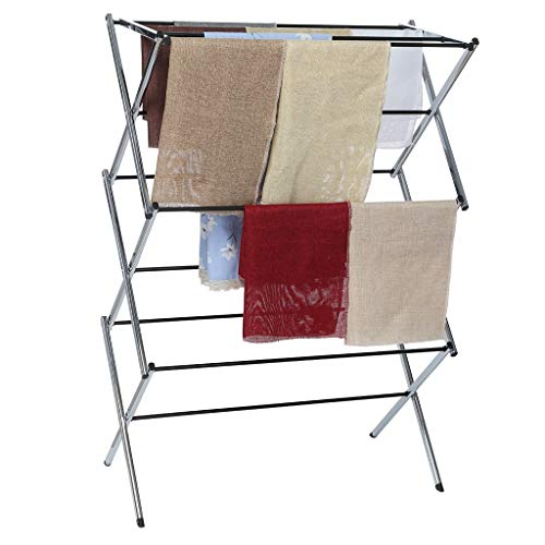 Graysky Foldable Drying Rack Horse Extendable Telescopic Clothes Dryer For Hang Laundry