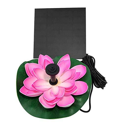 Cabilock Solar Wasserpumpe Schwimmende Lotus Brunnen Vogel Bad Brunnen Pumpe Seerose Ornamente für Gartenterrasse Aquarium Teich Dekoration