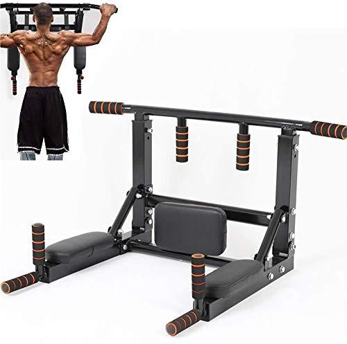 Sinbide Barre de Tractions Mural, Équipement de Fitness, Multi-Grip Pull Up Bar, Barre de Fitness Fixée au Mur, Barres de Traction entraînement Multifonctionnel