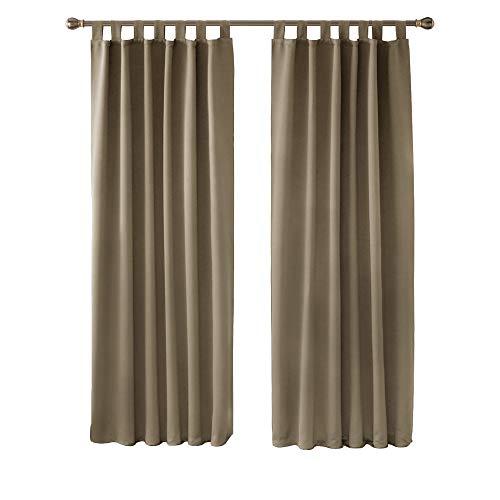 cortinas habitacion matrimonio marron