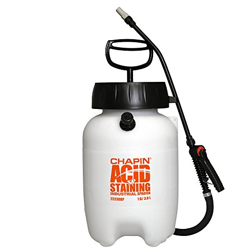 Chapin International 22230XP 1-Gallon Industrial Acid Staining Sprayer for Acid Staining and Acid Cleaning, 1-Gallon (1 Sprayer/Package), 40