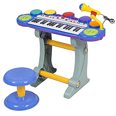 Best Choice Products Musical Kids Electronic Keyboard 37 Key Piano W/ Microphone