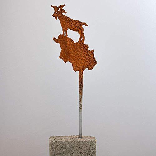 Galionsfigur Kölsche Jeck (S) | Designer Blumenstecker Edelrost - 30cm hoch, Köln Karneval Souvenir, Gastgeschenk, Mitbringsel, Made in Germany