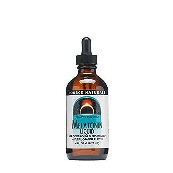 Source Naturals Melatonin Liquid Sublingual Orange 4 Fl Oz