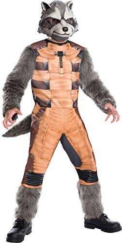 MARVEL ~ Rocket Racoon Deluxe (Guardians of the Galaxy) - Kids Costume 5 - 7 years