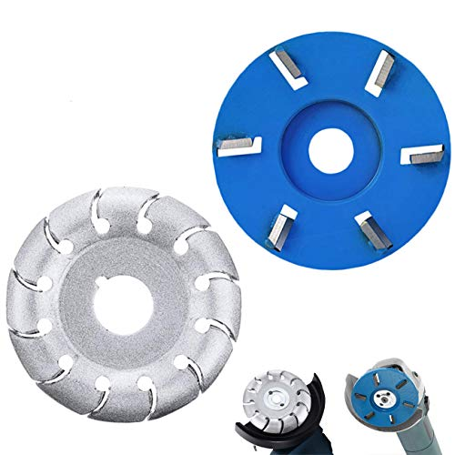 12 Teeth Wood Shaping Disc Wood Carving Disc Extreme Shaping Disc for Angle Grinder Woodworking Tool,6 Teeth Power Wood Carving Disc Woodworking Milling Cutter