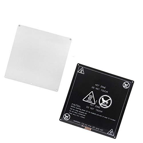 XBaofu Letto 1pc Calore for MK3 Accessori Riscaldamento Bed 12V / 180watts Nero Esplosione Termica Stampante 3D Riscaldamento Parts 220 Millimetri X 220 Millimetri in Alluminio PL (Colore : Nero)