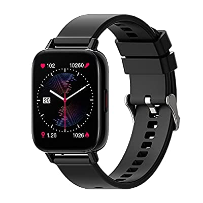 """FITMASTER GW-i22 1.69"""" IPS, Health Assistant, 5.0 Bluetooth, BIOSENSOR CHIP, 724 Heart Rate Monitor, 2,5D Full Touch, IP67 Waterproof, Sleep & Fitness Tracker, Music, 7+ Days Battery, 8+ Sports, Black by FITMASTER"""