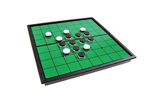 Quantum Abacus Magnetisches Brettspiel (Super Mini Reise-Edition): Reversi / Oshello - magnetische Spielsteine, Spielbrett zusammenklappbar, 13cm x 13cm x 1, 2cm, Mod. SC52500 (DE)