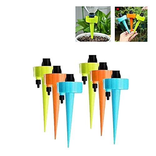 SEGMINISMART Riego por Goteo Automático Kit,Dispositivo de riego automático,Ajustable Dispositivo de Riego por Ggoteo Spike Sistema de Irrigación para Jardín Bonsáis y Flores