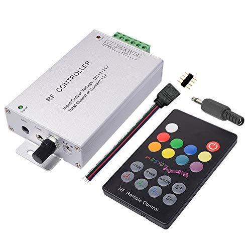 WEI-LUONG DC12V-24V 18 Teclas RGB Música LED Controlador RF Remoto Sensor de Sonido Voz Audio Control de Audio para 3528 5050 RGB LED Luz de Tira
