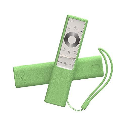 SIKAI Schutzhülle aus Silikon, kompatibel mit 2019 Samsung QLED Q7F / Q8 / Q9 TV-Fernbedienung BN59-01311G / BN59-01311B TM1990C, stoßfest, Kratzfest, passgenau wie EIN Handschuh (Leuchtendes Grün)