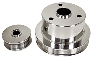 Compatible/Replacement for CHEVY TRUCK 454 7.4L 94-96 BILLET SERPENTINE PULLEY SET- POLISHED