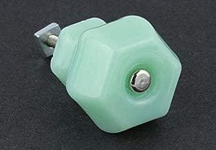 Antique Depression Milk Green Glass Drawer Knob Pull Handle 1-1/2