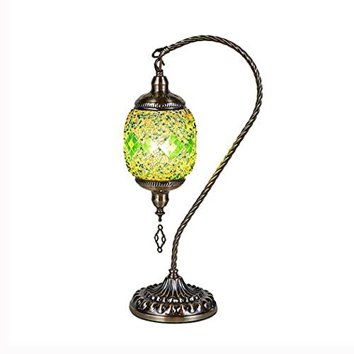 Lámpara de mesa turca Tiffany linterna marroquí lámpara de escritorio pantalla de...
