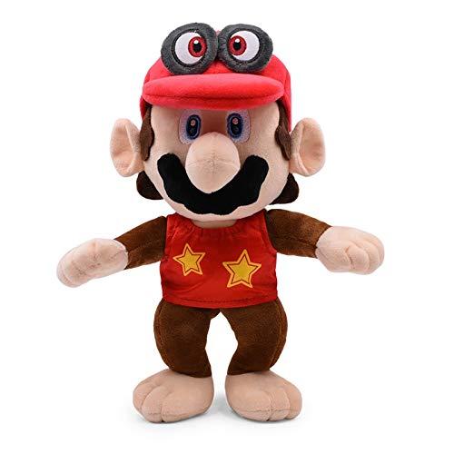 12 inch 30 cm super mario bros rode odyssey cosplay aap ezel diddy kong knuffels gevulde poppen kinderen speelgoed gratis verzending