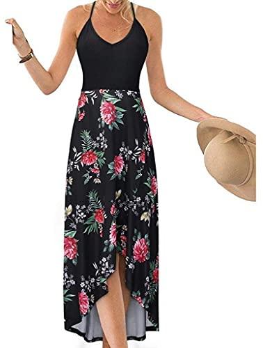 TBSCWYF Vestido de Playa Mujer Suelto Pareos Playa V-Cuello Camisolas y Pareos Bikini Traje de Baño Cover up Tunica Talla Grande Vestido de Playa