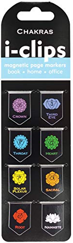 Chakras i-clips Magnetic Page Markers (Set of 8 Magnetic Bookmarks)