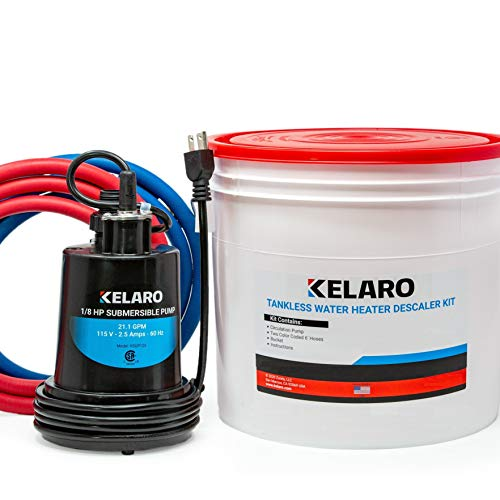 Kelaro Tankless Water Heater Flushing Kit - Just add Vinegar Descaler