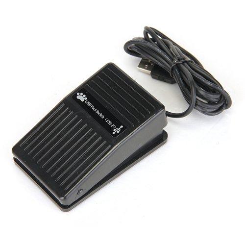 TOOGOO(R) USB PC HID Fussschalter Fusspedal Fusstaster Pedal Foot Switch 1 Taste Schwarz