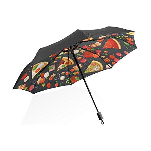 Florence Italian Pizza And Ingredients Foldable Sun-proof Umbrella Folding Waterproof Windproof...