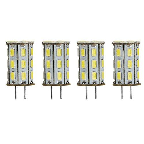 GY6.35 LED 5W als Ersatz für 35W Halogen Lampen ZSZT 12V Kühl Weiß 6000K für Schreibtischlampe, Kristall Scheinwerfer-Birne (4 Packs)