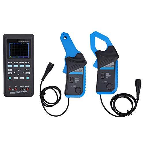 Osciloscopio, osciloscopio portátil Osciloscopio de diagnóstico automotriz Fuente de señal y multímetro Mide más de 80 funciones del automóvil Interfaz de carga tipo C 100% nuevo(EU)