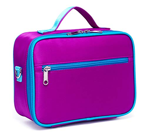 BLUEFAIRY Kids Insulated Lunch Bag Box for Girls Lunchbox Container Carrier for Girls for School with Handle (Purple)