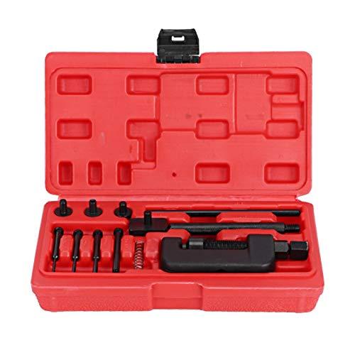 Kit de remachador de cadena, remachador de eslabones divisor de interruptor de cadena de motocicleta, herramienta de remachado universal