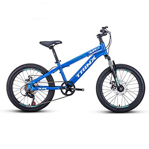 The New 20-inch Mountain Bike Children's Bicycle 6-Speed Aluminum Alloy Double disc Brake Student Bicycle Epic Bicicleta,Blue