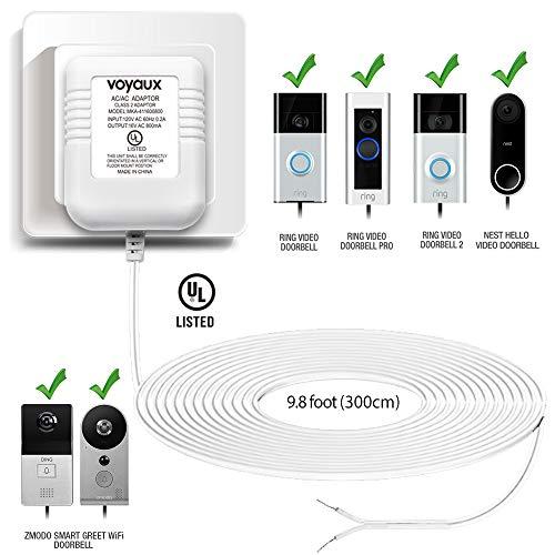 Doorbell Transformer, 16V / 800mA Power Adapter for Ring Video Doorbell, Ring Video Doorbell Pro and Ring Video Doorbell 2, Transformer Compatible With Nest Hello Doorbell and Zmodo Smart Doorbell