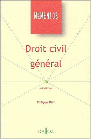 Droit civil général, 14e édition