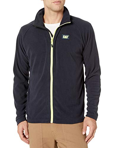 Caterpillar Men's Concord Fleece Jacket (Regular and Big Sizes), Navy, Large