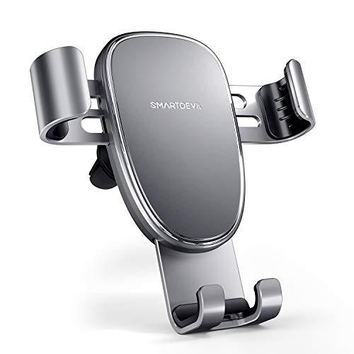 SmartDevil Porta Cellulare Auto Universale, Supporto Smartphone Auto 360° di Rotazione, Porta Telefono Auto per iPhone 12 11 X 8 7 Plus, Samsung Galaxy S10 S9 S8 S7, Huawei P40, Xiaomi Sony HTC ECC.