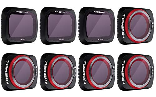 Freewell All Day - 4K Series - 8Pack Filters Compatible con Mavic Air 2 Drone
