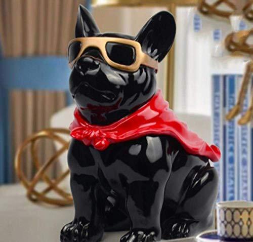 BINGFANG-W Decoración Caja de pañuelos Decoraciones del Arte del Perro del Arte Creativo Bandeja de Mesa de café del hogar de Almacenamiento de Tabla 2 Sala de Estar estatuas