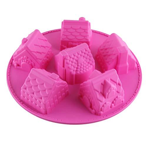 UPKOCH Stampo in Silicone 6 Fori Teglia per Cioccolato Stampi da Forno Divertenti per Fare Saponi Fatti a Mano Candele al Cioccolato Artigianato da Dessert (Colore Casuale)