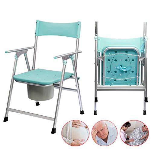 LQ&XL Toilettenstuhl Faltbare Mobile Toilette Schwangere, älterer Toilettenhocker - Rutschfester Handlauf/t