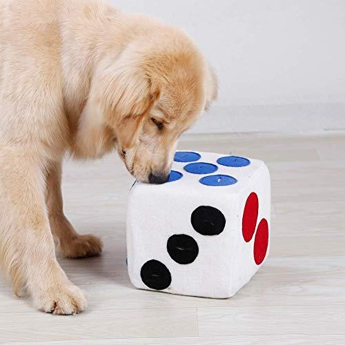 Me Plus Pet Pet PERDIENTE DE Perro Lugar FUTHING FLEVEE Fleece FEINFING Dice Toy Interactive DE Juego para EL PUBLICO IQ Suministros de Entrenamiento SOLUCIÓN DE RNUFFufe