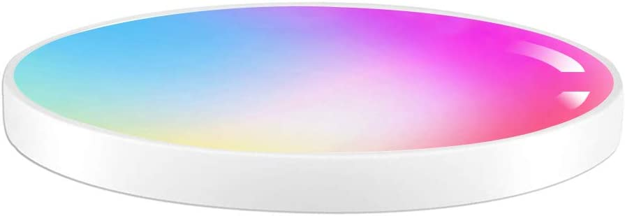 Smart Ceiling Light 15.7 inch, 36W WiFi LED Flush Mount Light Fixture, Compatible with Alexa Google, 3000-6000K, RGB Color Change, Low Profile Surface Mount Light for Bedroom Living Room (15.7 inch)